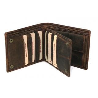 d1dfea822d Pánska kožená peňaženka GreenLand na 15 kreditiek 2551-25