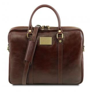 Luxusná kožená taška na dokumenty URBINO TL141241 červená ... d941aed85df
