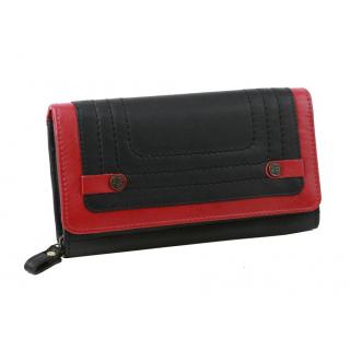 Dámska kožená peňaženka s kovovou sponou 92221 čierna da54a9c1648