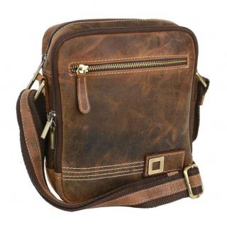 8ec604d4be Kožená taška cez plece MERCUCIO HUNTER 250854 23x21 cm BRN