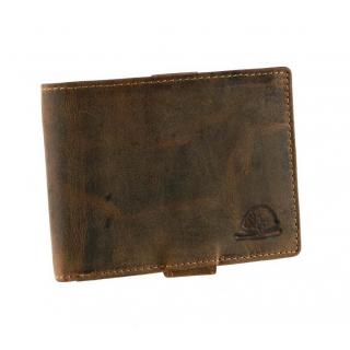 Pánska kožená peňaženka GreenBurry 1705 brúsená koža hnedá 31e12175f32