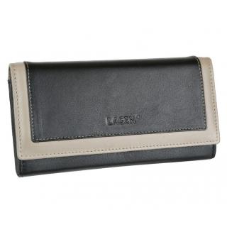 93890ab096 Listová peňaženka LAGEN FUXIA čierna a béžová koža