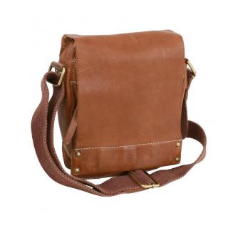 11097ee7b7 Príručná malá taška na rameno BRANCO hnedá koňak