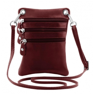 Crossbody taštička TUSCANY, mini 19x14 cm bordová