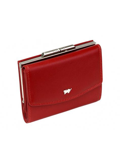 Dámska kožená peňaženka s kovovou sponou 92221 červená b95a7e9f20c