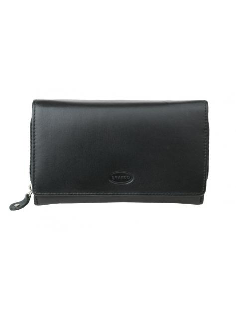 Dámska peňaženka BRANCO viacdielna kožená čierna bb6ea63dac6