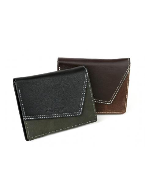 0966acebab Pánska kožená peňaženka MERCUCIO s prešívaním