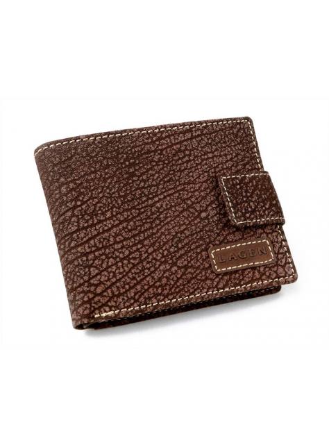 20ae17c3a36d Pánska kožená peňaženka LAGEN V-97 hnedá