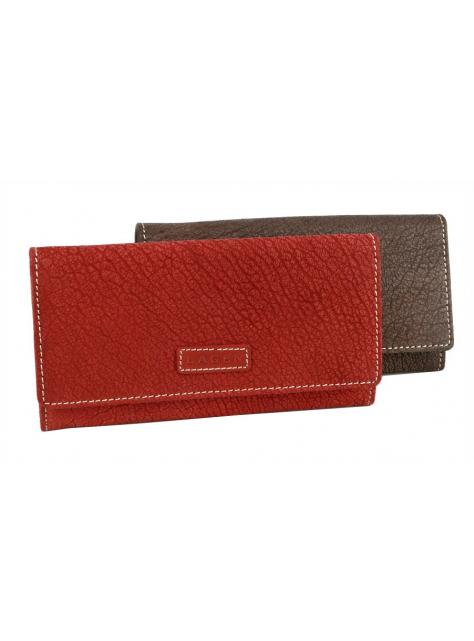 Dámska kožená peňaženka LAGEN brúsená koža červená f1c61889881