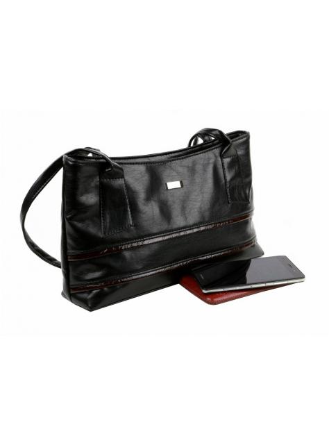 Koženková dámska kabelka MERCUCIO čierna 8840572fbc6