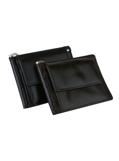 fe8b40e178 Kožená dolárovka s mincovníkom čierna MERCUCIO