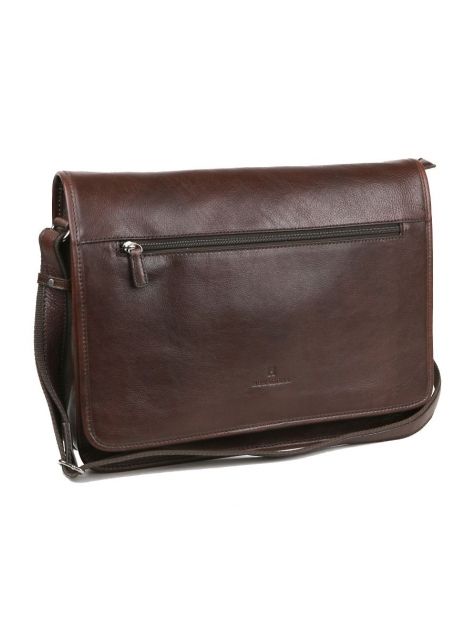 ef6b3ed262 Kožená taška na notebook a dokumenty HEXAGONA 129482 hnedá