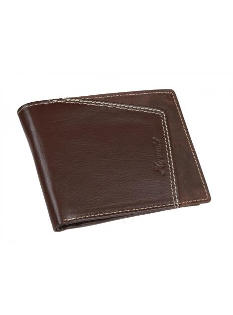 54c4462c6c6c Pánska kožená peňaženka tmavohnedá MERCUCIO 2511452