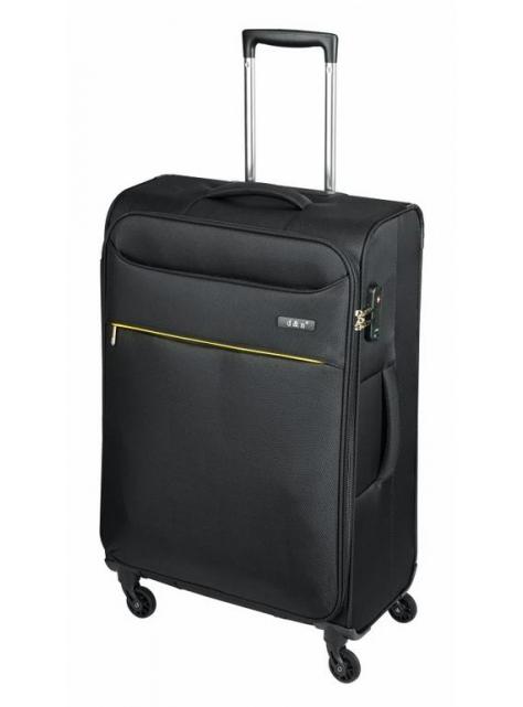 03e1e7fbf7e51 Veľký cestovný kufor čierny textilný 6374