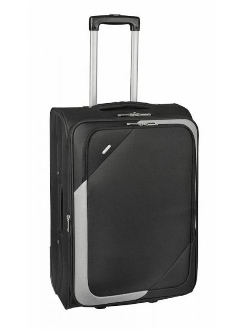 ff95c5c6b8d18 Veľký cestovný kufor textilný 7270 čierno- šedý - KozeneDoplnky.sk