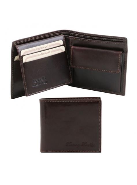 fe697ae12eb4 Luxusná pánska peňaženka TUSCANY tmavohnedá 141377 - KozeneDoplnky.sk