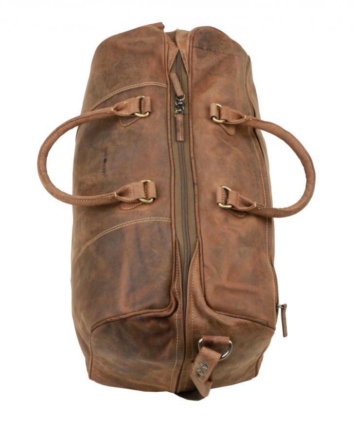 Kožená cestovná taška na plece GreenBurry 1675 brúsená koža 30082c6ce35