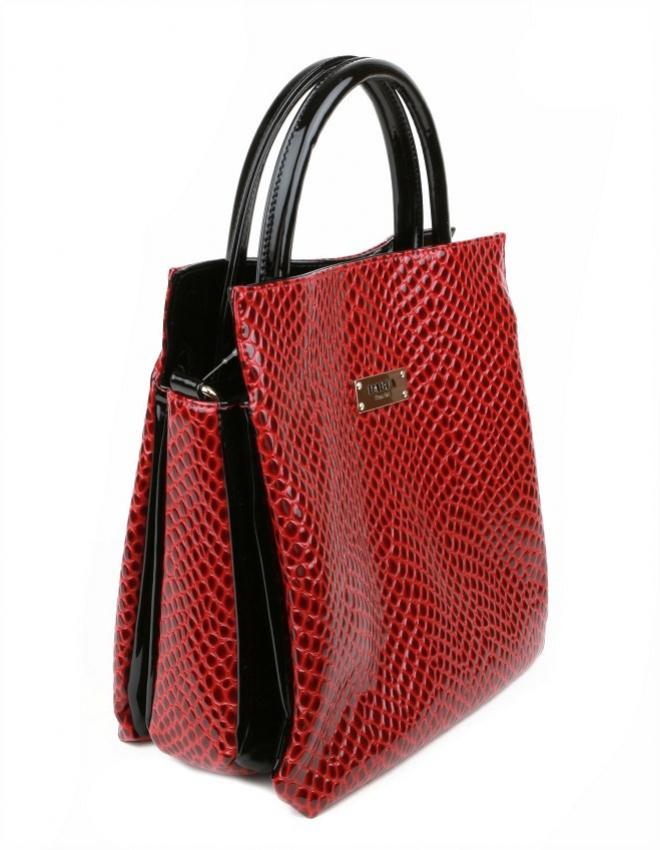 Dámska štýlová kabelka MONNARI červeno-čierna 2970 8628dccc655