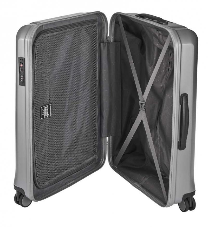 8cea011a639f5 Veľký cestovný kufor strieborný plastový 8170. KOŽENÉ DOPLNKY · CESTOVNÉ  KUFRE · Veľké cestovné kufre · Doprava zdarma