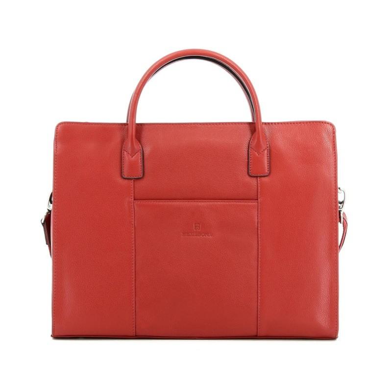 65f27d1460 Dámska kožená biznis taška HEXAGONA 462698 oranžová-tehlová ...