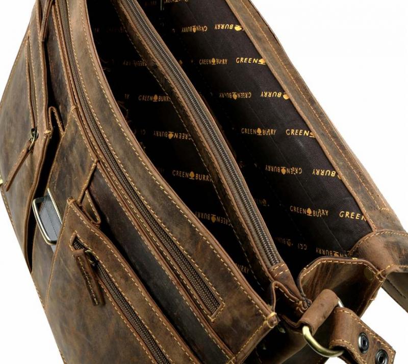 GreenBurry - pánska aktovka z masívnej kože 1709-25 hnedá 5c41e785122