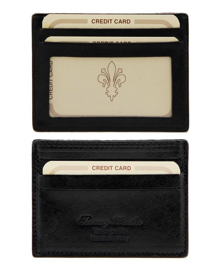 Puzdro na kreditné karty TUSCANY LEATHER 140805-nero