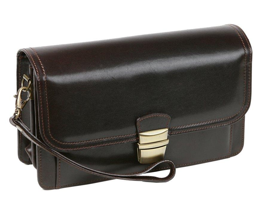 Luxusná etue taška na doklady HAJN hnedá