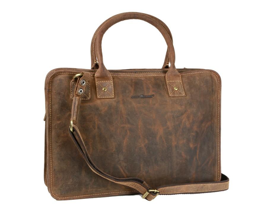 Dámska taška na rameno pre notebook GreenBurry brúsená koža bdc742b11f8